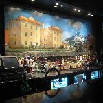 The Bar area -- Painting of the old train Station