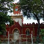 Der geschlossene Eingang zum Fort