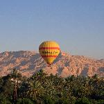 Ballooning over the Theban Hills