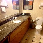 Bathroom in room 1203.