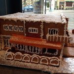 The cafe's own gingerbread version of itself!