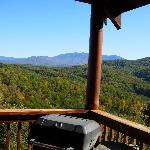 View of the Smokies from the porch