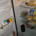 fridge on the END of our stay (still masses of food there)
