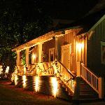 Bayshore cottage at night