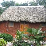 Mayan thatched-roof hut.