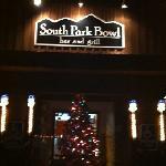 front sign after dark
