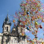 Easter in Prague - Old Town Square (Tyn church)