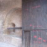 floodmarks on the door