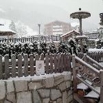 Idromassaggio caldo...sotto la neve!!!
