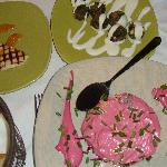 Cheese, Herb croquettes and Beetroot salad flavoured with tzitzer