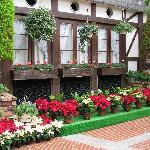 Christmas theme flower arrangements