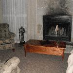 The living room which was super cozy