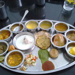 Thali as it was served