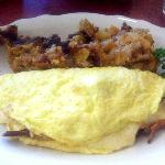 3 cheese omelet with potatoes
