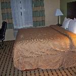 Wrinkled comforter, but comfy bed!