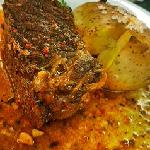 Carne marinada por 4 horas