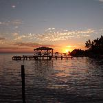Great sunsets from both sides of the caye