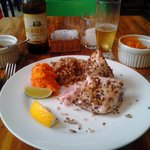 Tuna with pumpkin and brown rice
