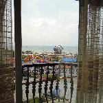 view of Yintan from balcony (Beach Hotel, Beihai)