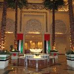 The reception area suitable decorated to celebrate the 40th birthday of Dubai