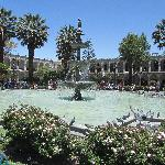 The fountain and plaza