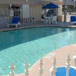 Enjoy our pool.
