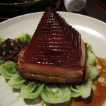 The famouse Dong Por Pork served like a pyramid and you peel each layer off