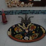 Hand-painted sink