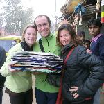 Buying kites for kids in the slums