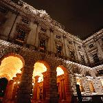The Courtauld Gallery at night