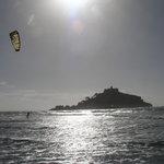 Kitesurfing down at Marazion