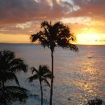 Solnedgången från hotellet.