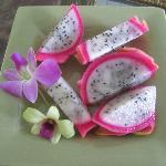 Gorgeous tropical fruit for breakfast!