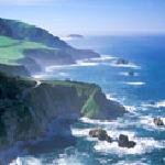 Big Sur California from helicopter
