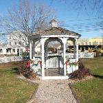 Gazebo decorated for the holidays