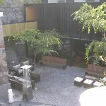 Another view from our room of one of the outdoor spaces.
