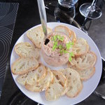 Delicious pate and bread