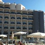 hotel from middle sunbathing area