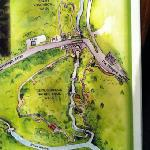 the local nature walk on map