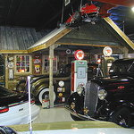Vintage Gas Station Built Inside Museum