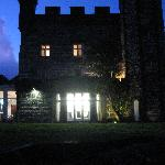 The Castell side & dining room on a winter's evening