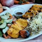 Our famous kabob with specialty rice