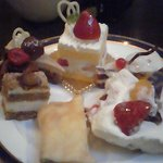 Desserts from the buffet