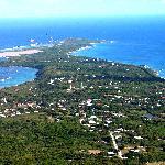 vue aérienne pointe des châteaux