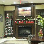 Lobby Decorated for Christmas!
