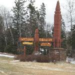 Lutsen sign just off Highway 61
