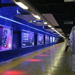 Gautrain platform at Sandton station