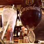 Corsendonk Christmas ale, served in its own vessel.