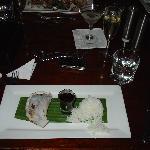 Barramundi fillet. Asian style en papillote with bok choy, ginger, chilli, corriander, tomato, e