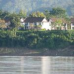 View of hotel from the Mekong